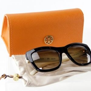 Tory Burch Tortoise Thick Frame Sunglasses